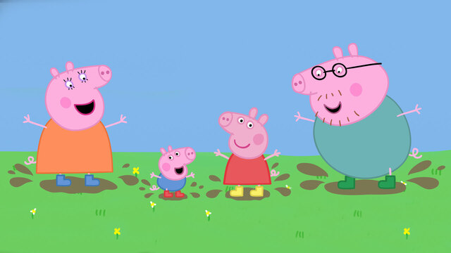 Channel 5 Caveman Show : Peppa pig channel
